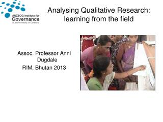 Analysing Qualitative Research: learning from the field