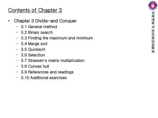 Contents of Chapter 3