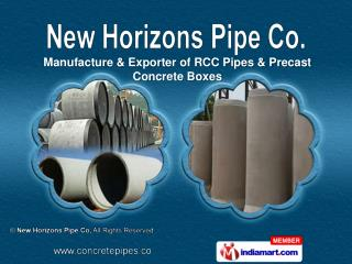 RCC Pipes   & Precast Concrete Box Culverts