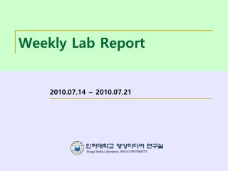 Weekly Lab Report