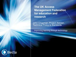 The UK Access Management Federation for education and research