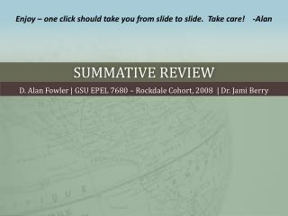 Summative Review