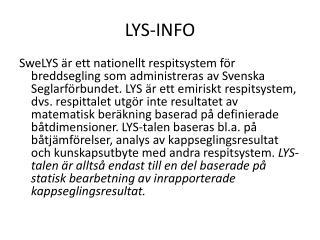 LYS-INFO