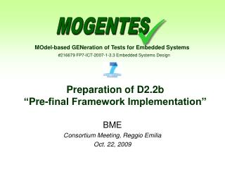 Preparation of D2.2b  � Pre-final Framework Implementation�