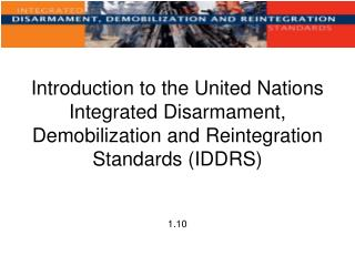 Introduction to the United Nations Integrated Disarmament ...