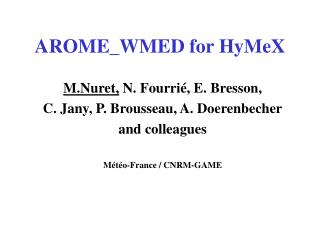 AROME_WMED for HyMeX
