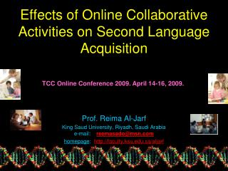 Effects of Online Collaborative Activities on Second Language Acquisition