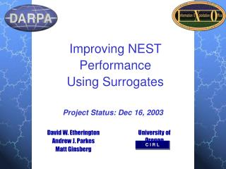 Improving NEST Performance  Using Surrogates