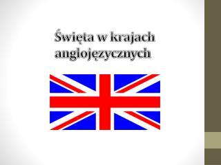 Święta w krajach anglojęzycznych