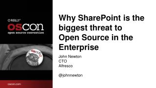 Why SharePoint is the biggest threat to Open Source in the Enterprise