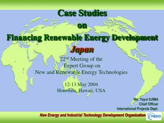 Case Studies  on Financing Renewable Energy Development Japan