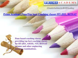 Prime Academy Pune : Top best Coaching classes