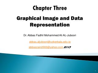 Chapter Three Graphical Image and Data Representation