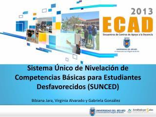 Sistema Único de Nivelación de Competencias Básicas para Estudiantes Desfavorecidos (SUNCED)