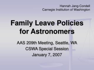 Family Leave Policies for Astronomers