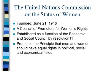 Commission on the Status of Women and UN Conventions