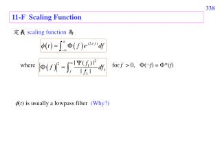 11-F  Scaling Function