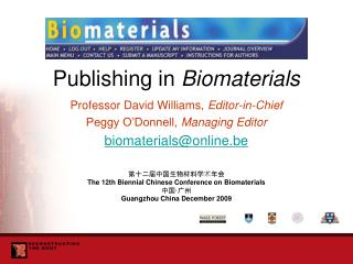 Publishing in  Biomaterials