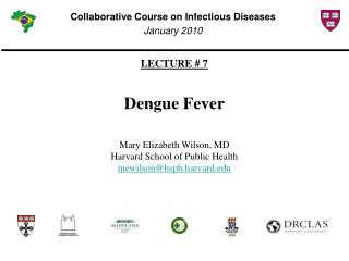 LECTURE # 7 Dengue Fever Mary Elizabeth Wilson, MD Harvard School of Public Health