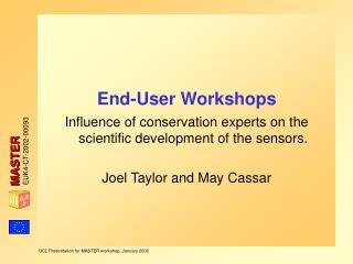 End-User Workshops