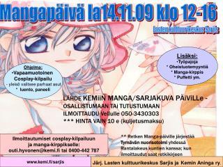 Mangapäivä la14.11.09 klo 12-16