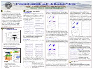 Evaluation of Community Land Model Hydrologic Predictions