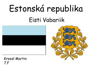 Estonská republika