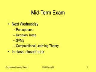 Mid-Term Exam