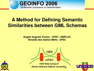 A Method for Defining Semantic Similarities between GML Schemas