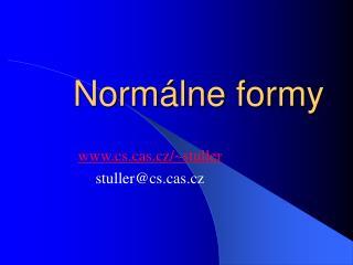 Normálne formy