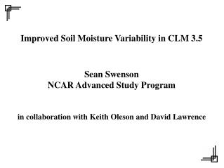 Improved Soil Moisture Variability in CLM 3.5