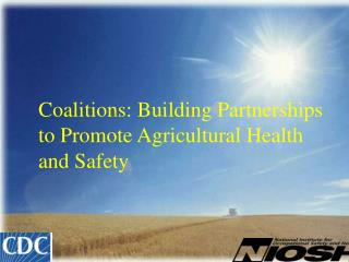 Coalitions: Building Partnerships to Promote Agricultural Health and Safety