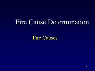 Fire Cause Determination
