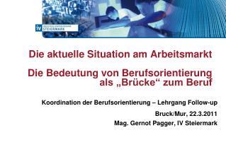 Koordination der Berufsorientierung – Lehrgang Follow-up     Bruck/Mur, 22.3.2011