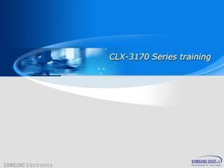 CLX-3170  Series training