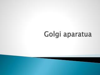 Golgi aparatua