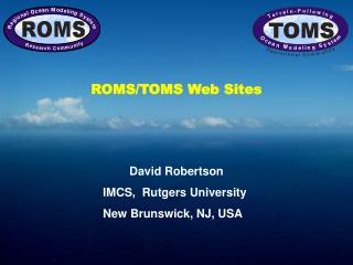 ROMS/TOMS Web Sites