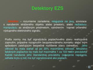 Detektory EZS