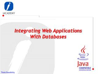 Integrating Web Applications With Databases