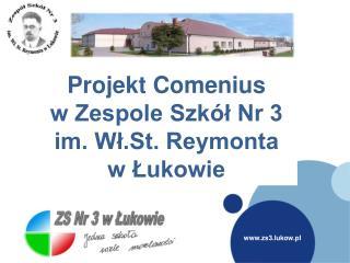 Projekt Comenius  w Zespole Szkół Nr 3  im. Wł.St. Reymonta  w Łukowie