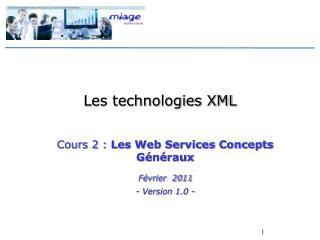 Les technologies XML