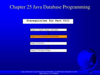 Chapter 25 Java Database Programming