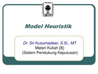 Model Heuristik