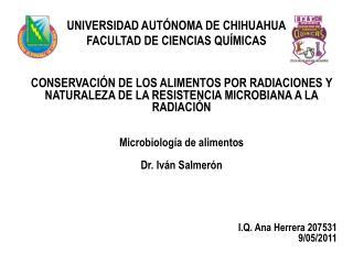 UNIVERSIDAD AUTÓNOMA DE CHIHUAHUA FACULTAD DE CIENCIAS QUÍMICAS
