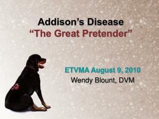 "Addison's Disease ""The Great Pretender"""