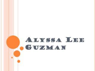 Alyssa  L ee  G uzman