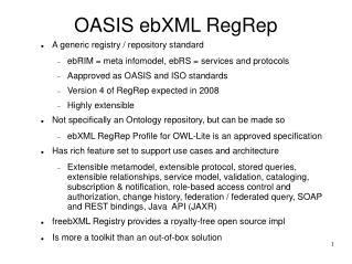 OASIS ebXML RegRep