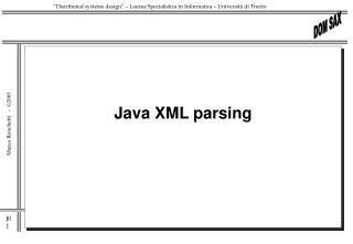 Java XML parsing