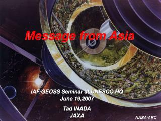 Message from Asia