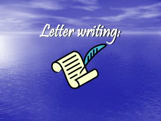 Letter writing: